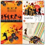 Party dancing music vector backgrounds