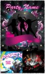 Dancing girls vector posters