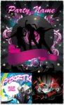 Dancing girls vector posters