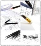 Pencils and rulers images