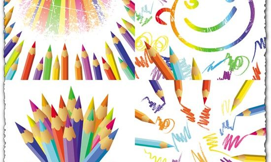 Pencils for children vector