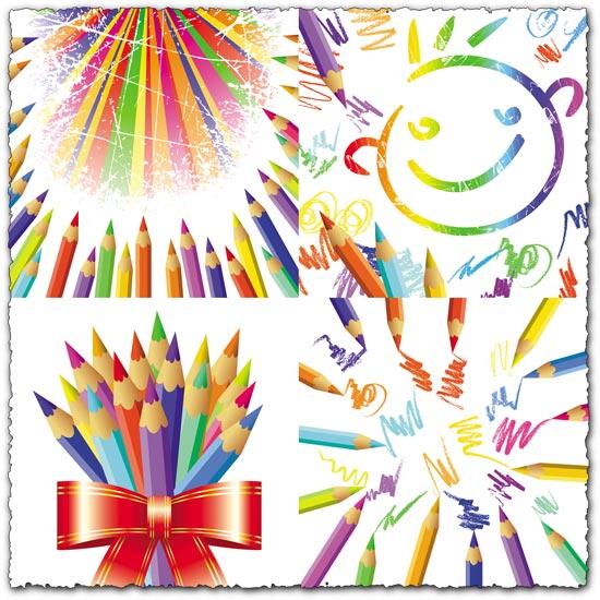 Pencils for children vector