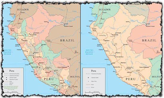 Peru vector maps