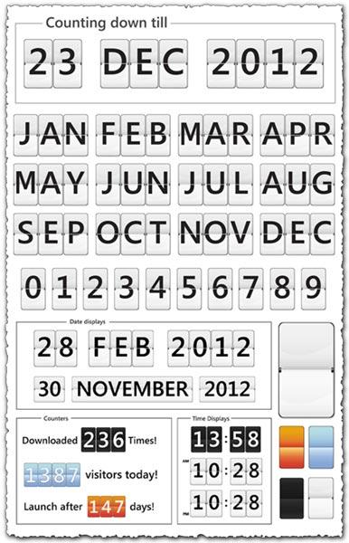 Photoshop calendar symbols