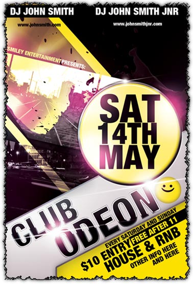 Photoshop club flyer template