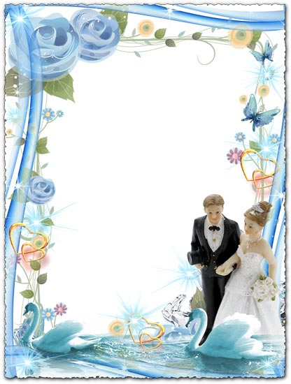 Photoshop frame with blue design