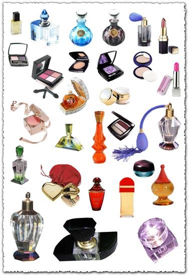 Photoshop perfume and makeup templates
