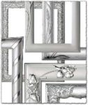 Silver photo frames for Photoshop