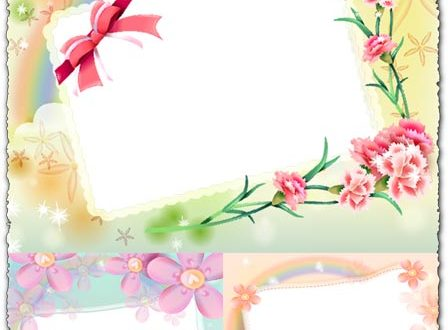 Photoshop spring frames templates