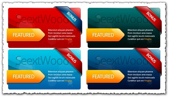 Photoshop web banners for advertising