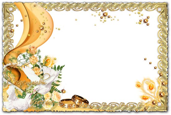 Photoshop wedding frame template