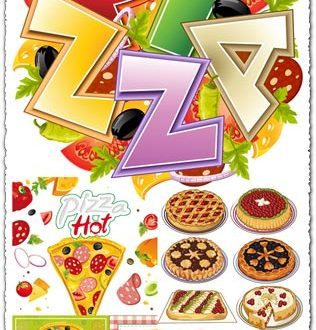 Pizza slices vector design