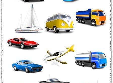 Png cars trucks and busses icons