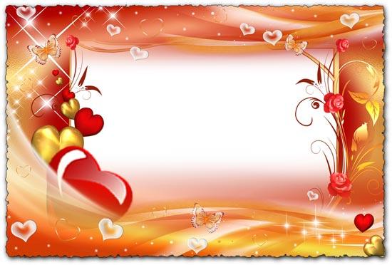 Png floral hearts frames