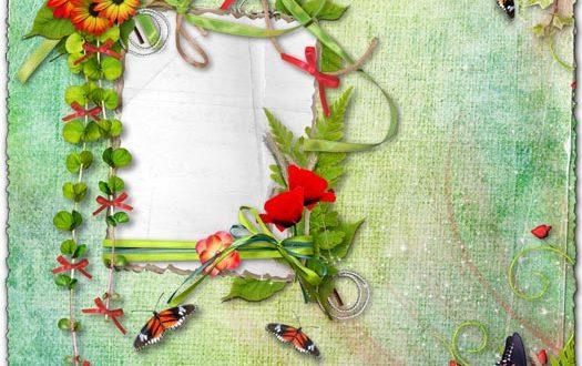 Png flower frame for photoshop