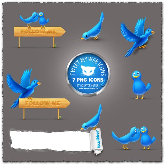 Png twitter bird icons