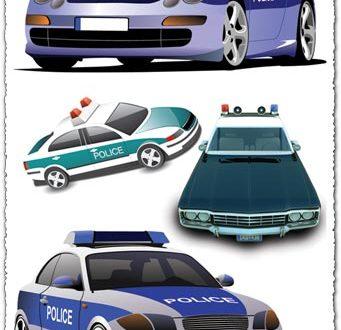 Police car vector templates