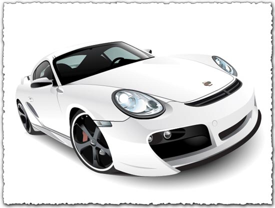 Porsche Car Vector EPS