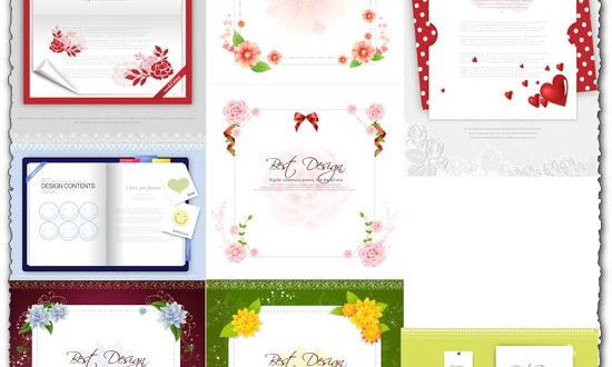Postcard frames design vector