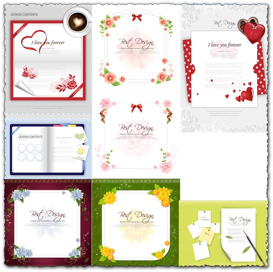 Postcard frames design vector