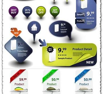 Product labels vectors