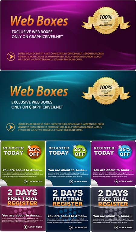 Promotional web banners for Photoshop