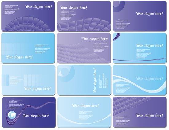 Purple business cards design