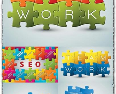 Puzzle vector backgrounds