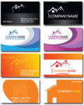 Real estate business card vectors