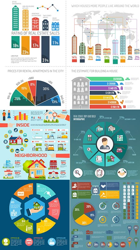 Real estate vector infographics