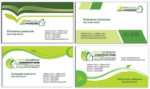 Real estates business cards vectors