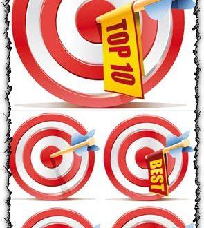 Red aim target vectors