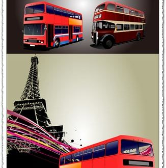 Red London buses vectors