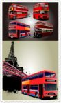 Red London buses vectors