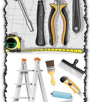 Repair tools vector templates