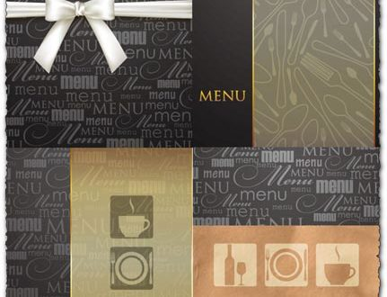 Restaurant menu booklet design vector