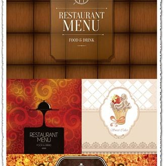 Restaurant menu cover as vintage design