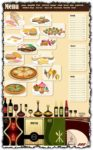Restaurant menu template vectors