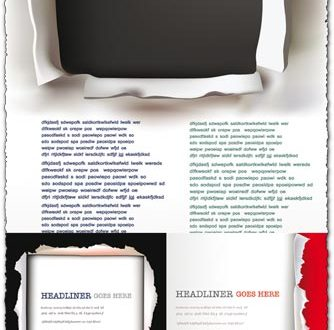 Ripped blank paper vector templates