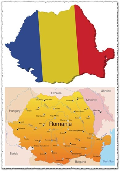Romania vector map