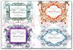 Romantic decorative banner vectors