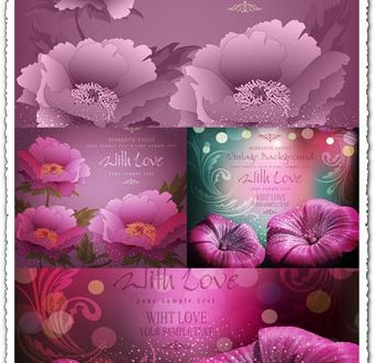 Romantic events vector cards