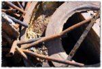 Rusty scrap metal textures