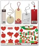 Sale price tags vector labels