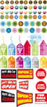Sale stickers vector elements