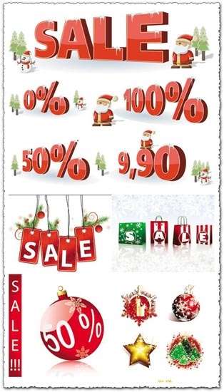 Sales concept vectors for Christmas