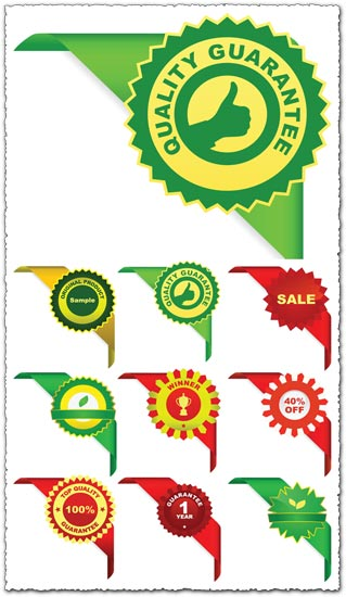 Sales corner ribbons vector