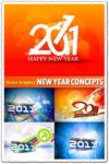 Abstract new year vector concepts