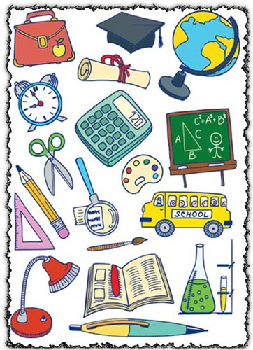 School education vector icons