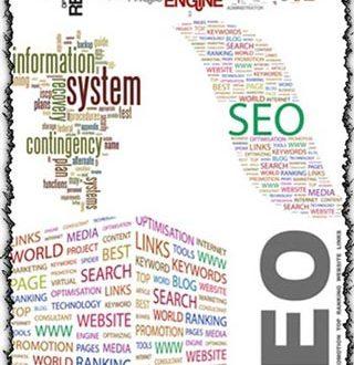 SEO word collage vectors